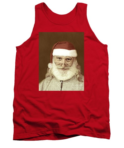 Santa's Day Off Tank Top by Linda Phelps
