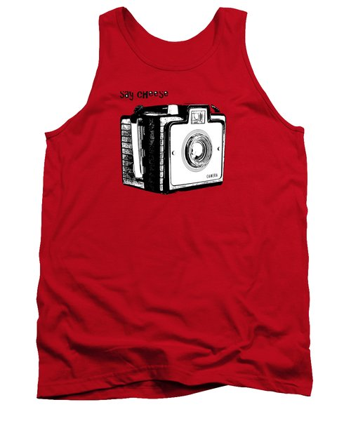 Say Cheese Old Camera T-shirt Tank Top