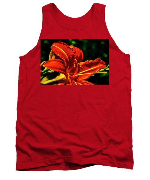 Tank Top featuring the photograph Scarlet Flower  by Joseph Hollingsworth