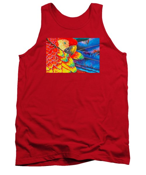 Scarlet Macaw Tank Top