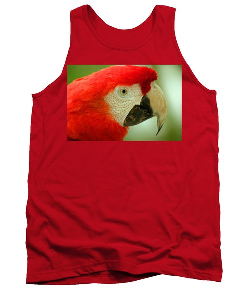 Scarlett Macaw South America Tank Top by Ralph A  Ledergerber-Photography