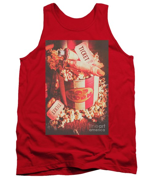 Scary Vintage B-grade Horror Movies Tank Top
