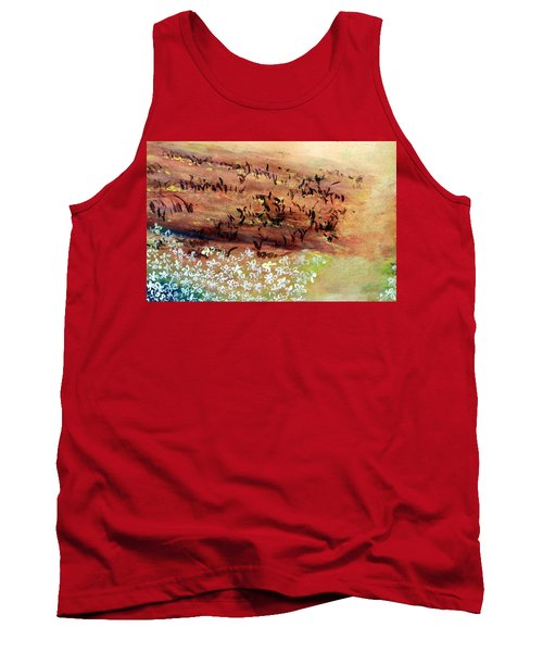 Tank Top featuring the painting Sea Earth  by Winsome Gunning