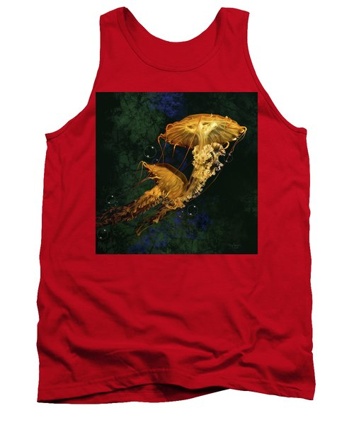 Tank Top featuring the digital art Sea Nettle Jellies by Thanh Thuy Nguyen