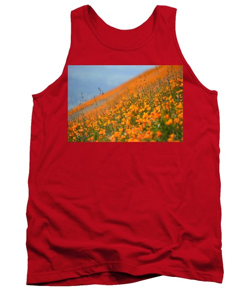 Tank Top featuring the photograph Sea Of Poppies by Kyle Hanson