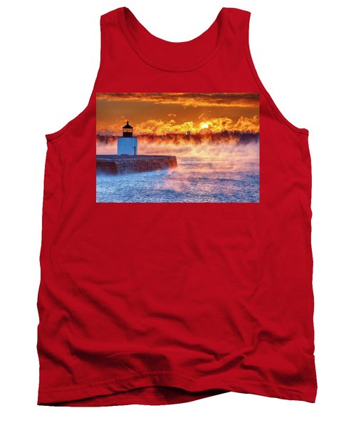 Seasmoke At Salem Lighthouse Tank Top
