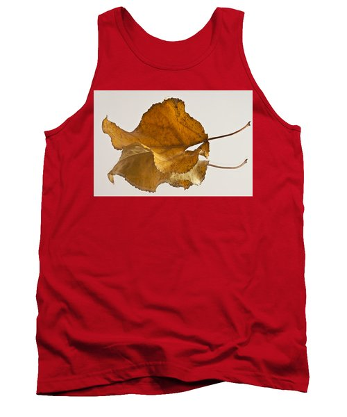 Seeing Double Autumn Leaf  Tank Top by Sandra Foster