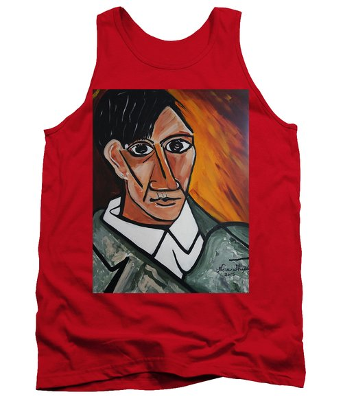 Self Portrait Of Picasso Tank Top by Nora Shepley