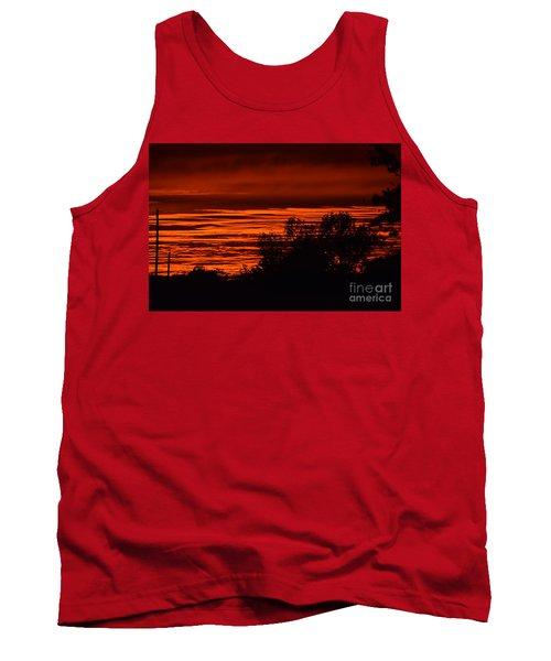 Tank Top featuring the photograph September Kansas Sunset by Mark McReynolds