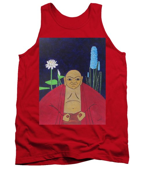 Tank Top featuring the painting Serene Buddha by Hilda and Jose Garrancho