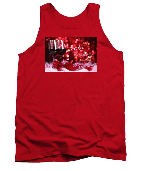Tank Top featuring the photograph Set On Fire by David Norman