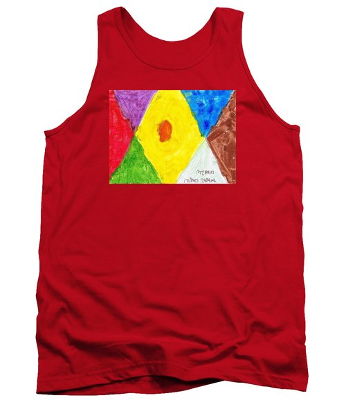 Tank Top featuring the painting Shapes by Artists With Autism Inc