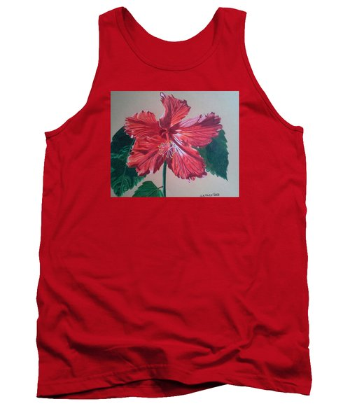 Shimmer - Red Hibiscus Tank Top