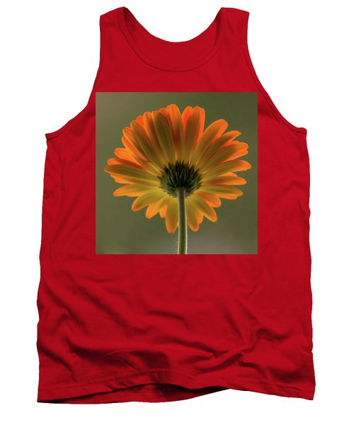Shine Bright Gerber Daisy Square Tank Top by Terry DeLuco