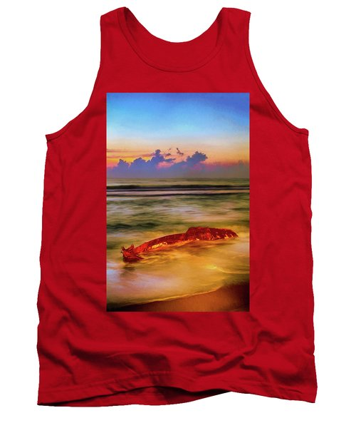 Shipwreck On The Outer Banks The End Ap Tank Top by Dan Carmichael