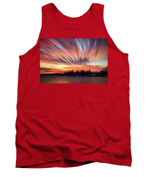 Shredded Sunset Tank Top