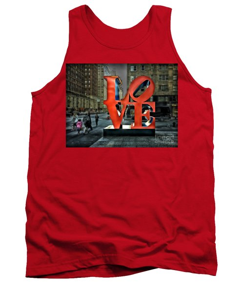 Tank Top featuring the photograph Sights In New York City - Love Statue by Walt Foegelle