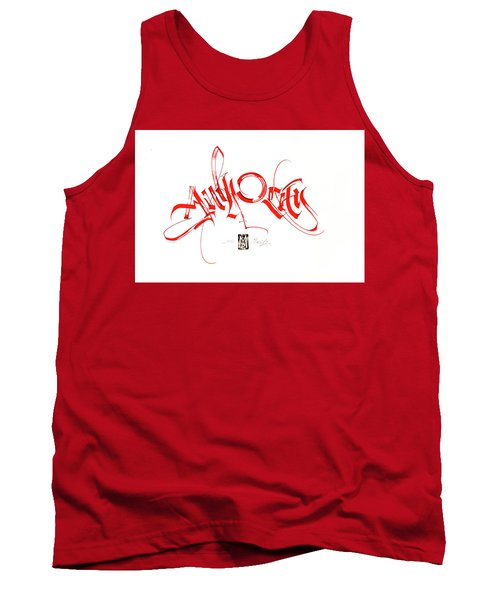 Significance. Calligraphic Abstract Tank Top