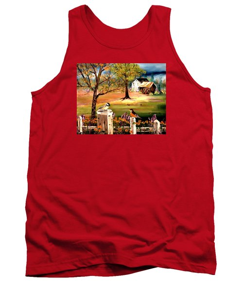 Tank Top featuring the painting Signs Of Spring by Denise Tomasura