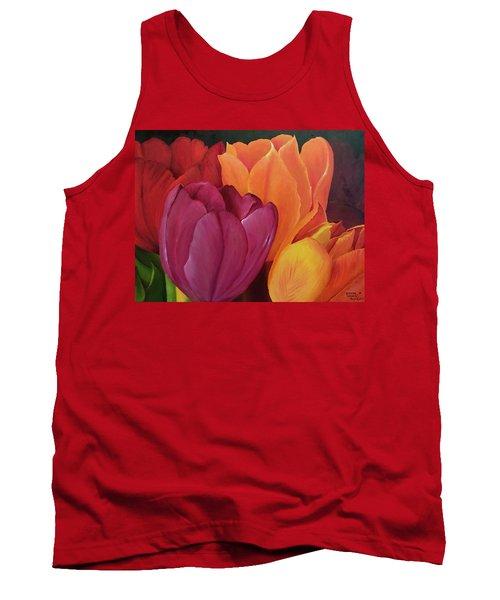 Silky Tulips Unite  Tank Top