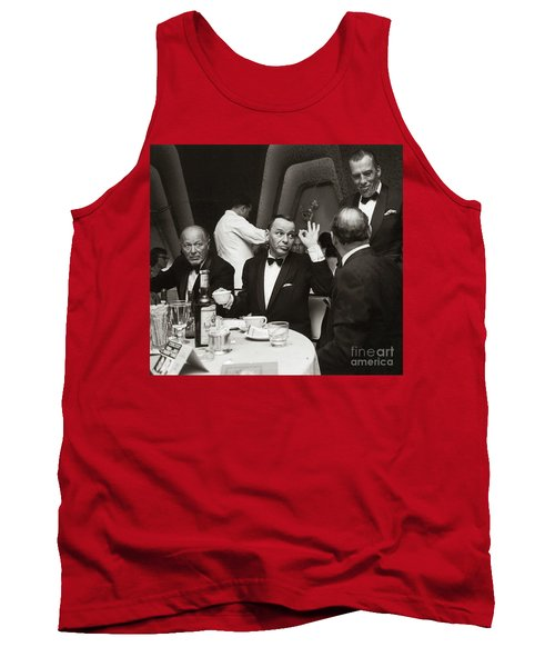 Sinatra And Ed Sullivan At The Eden Roc - Miami - 1964 Tank Top
