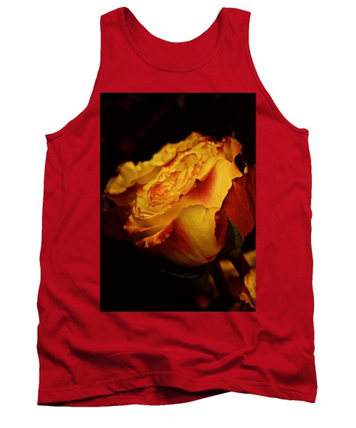 Tank Top featuring the photograph Single March Vintage Rose by Richard Cummings