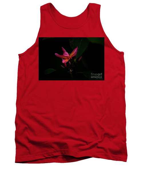 Single Red Plumeria Bloom Tank Top