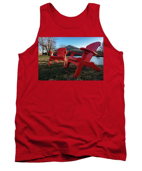 Sitting By The Lake Tank Top