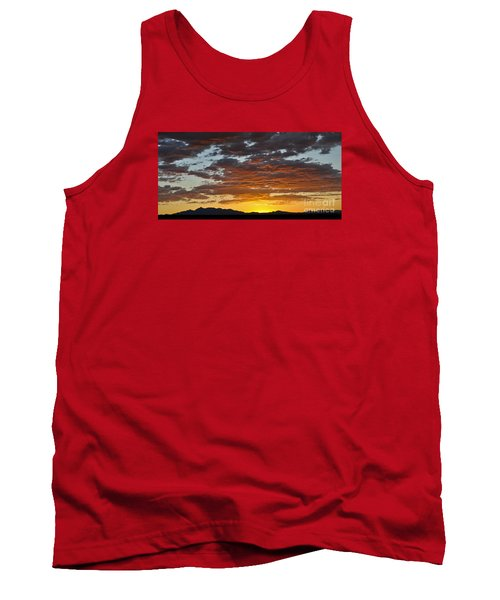 Tank Top featuring the photograph Skies Of Gold by Gina Savage