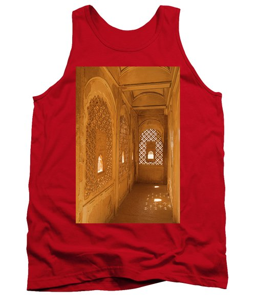 Skn 1241 Carved Niche Tank Top by Sunil Kapadia