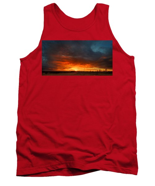 Sky On Fire Tank Top by Rod Seel