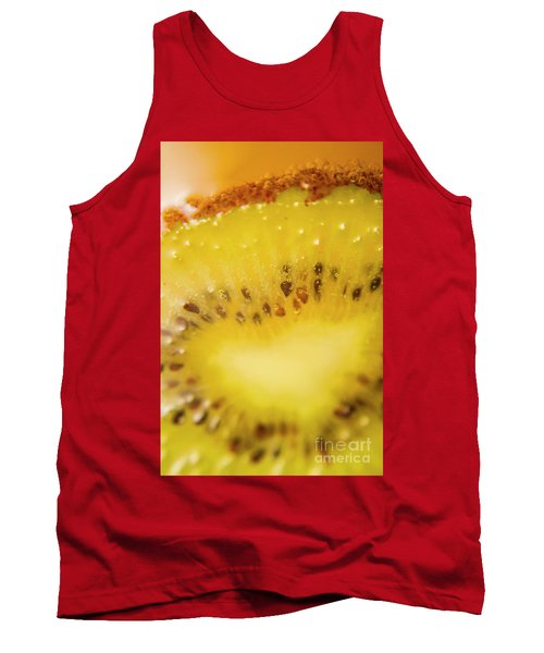 Sliced Kiwi Fruit Floating In Carbonated Beverage Tank Top by Jorgo Photography - Wall Art Gallery