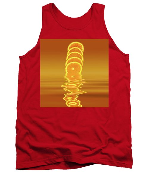 Slices Orange Citrus Fruit Tank Top by David French