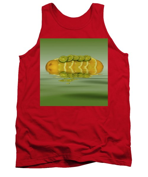 Tank Top featuring the photograph Slices Orange Lime Citrus Fruit by David French