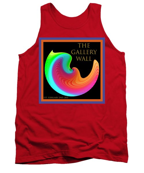 Tank Top featuring the photograph Slinky Dove Of Peace-the Gallery Wall Logo by Wendy Wilton