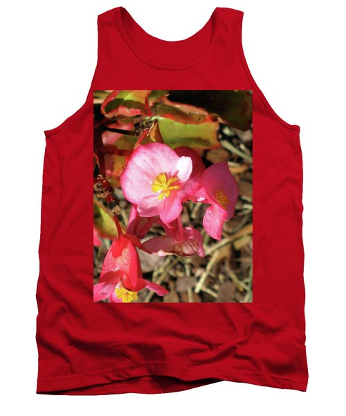Small Pink Flowers Of Summer Tank Top by Michele Wilson