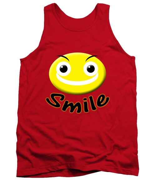 Smile T-shirt Tank Top by Isam Awad