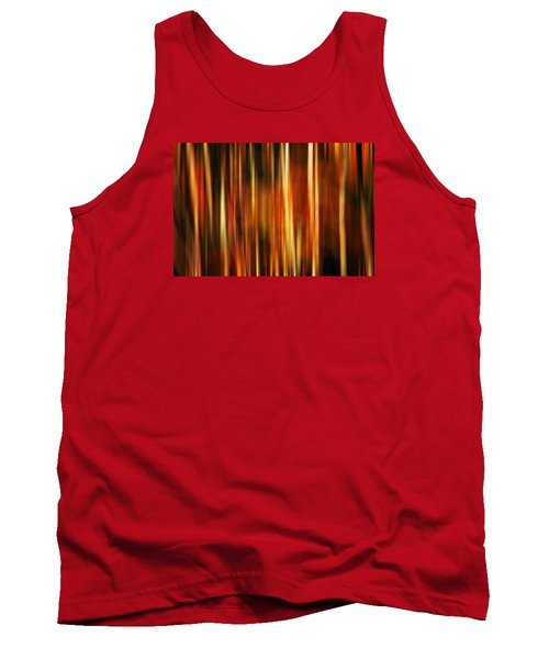 Smoky Mountains Fall Colors Digital Abstracts Motion Blur Tank Top