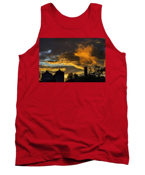Tank Top featuring the photograph Smoky Sunset by Jeremy Lavender Photography