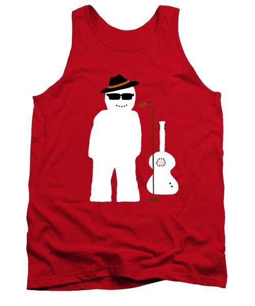 Snowman Musician Tank Top
