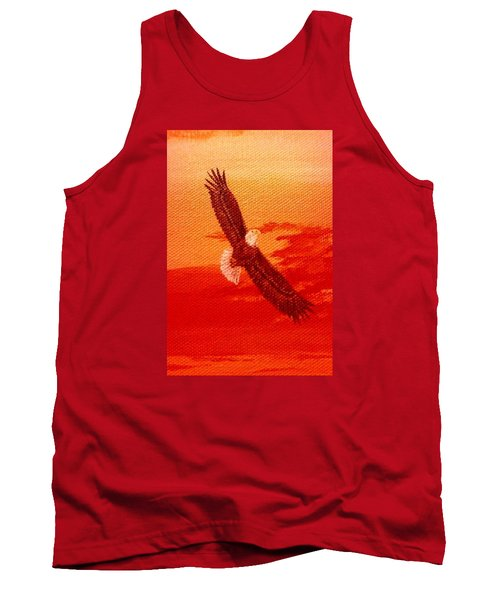 Tank Top featuring the painting Soaring by Katherine Young-Beck
