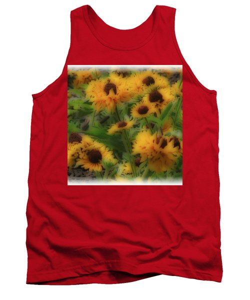 Tank Top featuring the photograph Soft Touch Black Eyed Suzy's  by Debra     Vatalaro