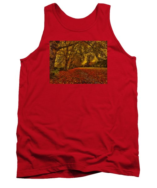 Softly Falls The Evening  Light Tank Top