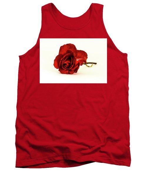 Red Rose Bud Tank Top