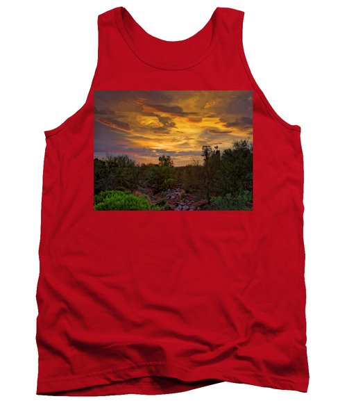 Tank Top featuring the photograph Sonoran Sonata H01 by Mark Myhaver