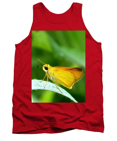 Southern Skipperling Butterfly 001  Tank Top by Chris Mercer