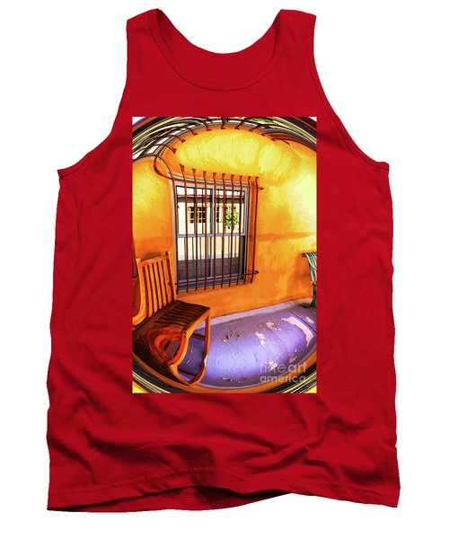 Southwestern Porch Distortion With Puple Floor Tank Top