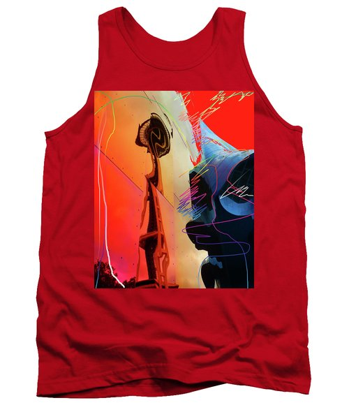 Tank Top featuring the digital art Space Needle Reflection 1 by Walter Fahmy