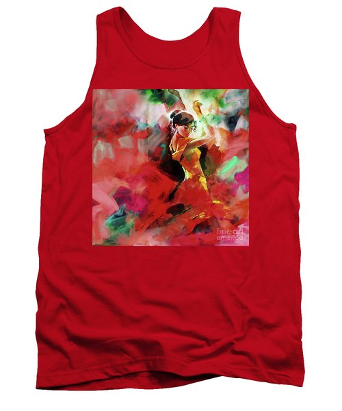 Tank Top featuring the painting Spanish Dance by Gull G