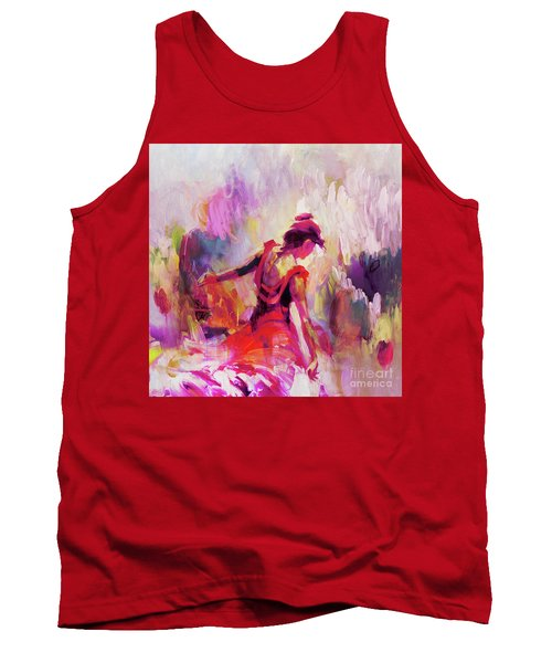 Tank Top featuring the painting Spanish Female Art 0087 by Gull G